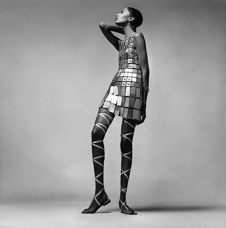 donyale-luna-first-black-african-american-model-supermodel-richard-avedon-courreges-metal-dress-photo-picture
