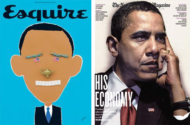 African American Barack Obama magazine front covers - Esquire, New York Times