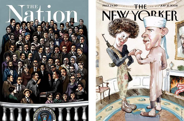 African American Barack Obama magazine front covers - Nation, The New Yorker