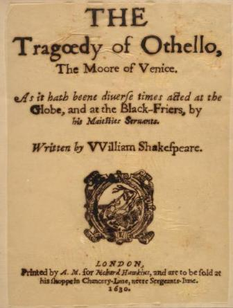an examination of william shakespeares othello the moor of venice Othello (new penguin shakespeare) london: penguin, 1996 239 pp   othello: a study in class  in muziek [the moor of venice in text and in music].