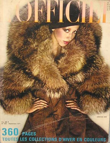 pat cleveland famous African American fashion model cover lofficiel magazine cover 1971