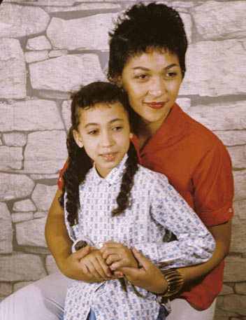 young pat cleveland famous black fashion model with mom ladybird