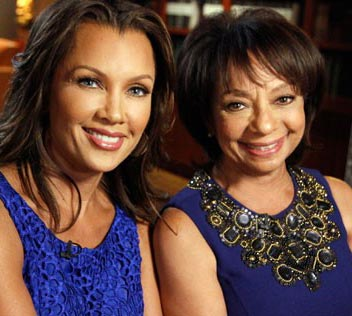 Blue-eyed African American Hollywood actress Vanessa Williams with mother Helen