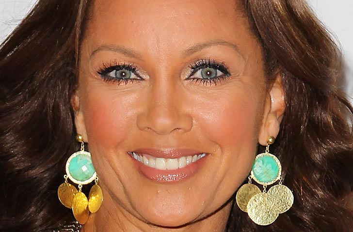 African American actress Vanessa Williams' natural blue eyes
