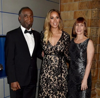 Singer Leona Lewis with parents, mother Maria and father Josiah.