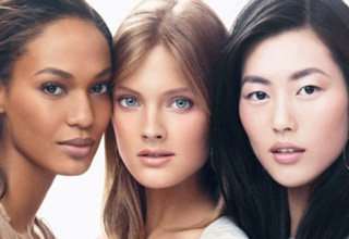 Multi-ethnic beauty models
